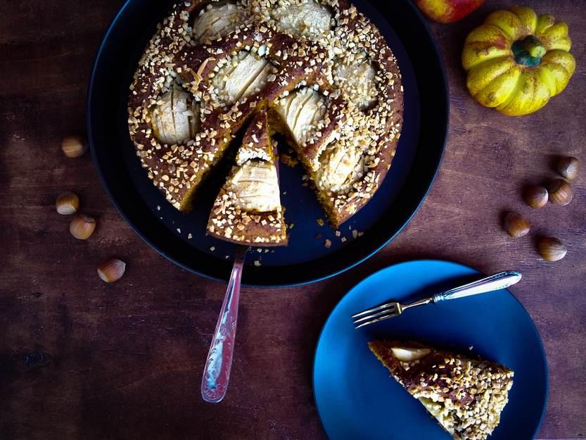 Apfel-Haselnuss-Kürbiskuchen | himmlisch lecker