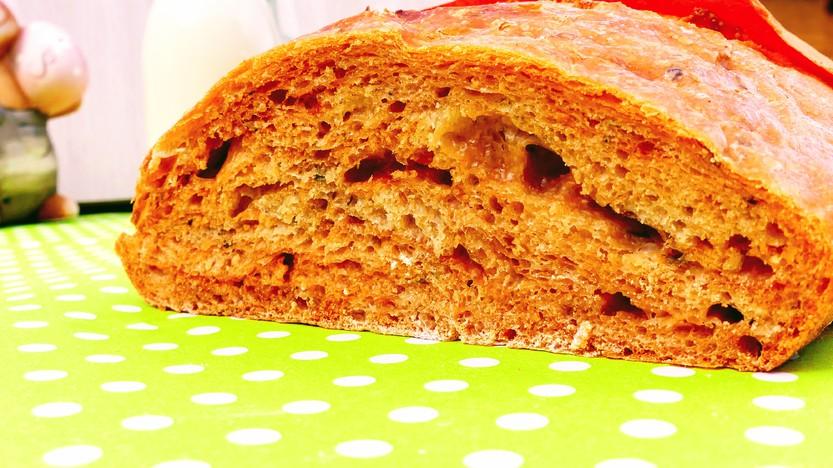 Delikates Tomaten & Oregano No Knead Bread