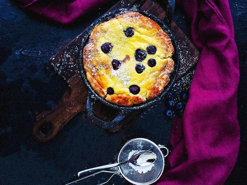 Dutch Baby - Heidelbeer Pfannkuchen aus dem Backofen