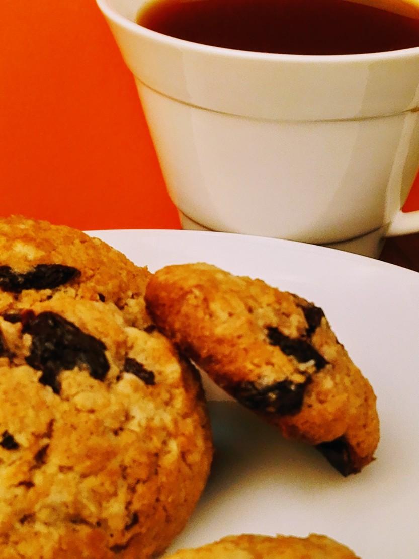 Kokosnuss Cookies mit Sauerkirschen
