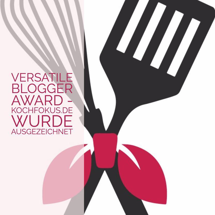 Versatile Blogger Award – kochfokus.de wurde ausgezeichnet