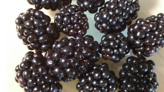Für die Zubereitung des Superfood Beeren Smoothies die Brombeeren verlesen, waschen, und im Sieb gut abtropfen lassen.